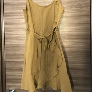 Nasty Gal Khaki Green Mini Ruffle Dress size 2